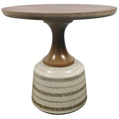 Ceramic and Walnut Side Table by John Van Koert for Drexel