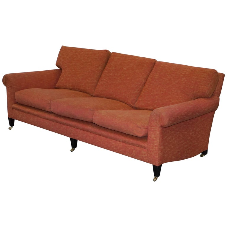 George Smith Signature Full Scroll Arm Loose Back Feather Filled Sofa For