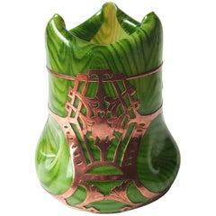 Art Nouveau Rindskopf Copper Clad Vase