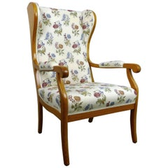 Antique Wingback Chair in Cherry, Germany, 1900
