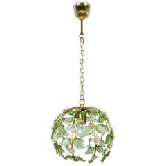 Floral Pendant Lamp from Palme & Walter KG, Germany, 1960s