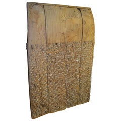 19th Century Wheat Thresher Sled from Spain as Agrarian, Sculptural Wall Art