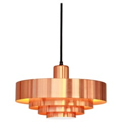 Jo Hammerborg Copper Roulet Hanging Lamp for Fog and Morup, Denmark, 1960s