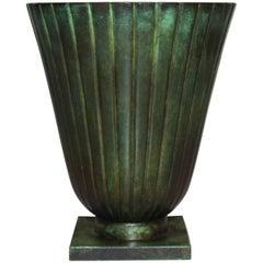 Art Deco Bronze Vase by Swedish GAB