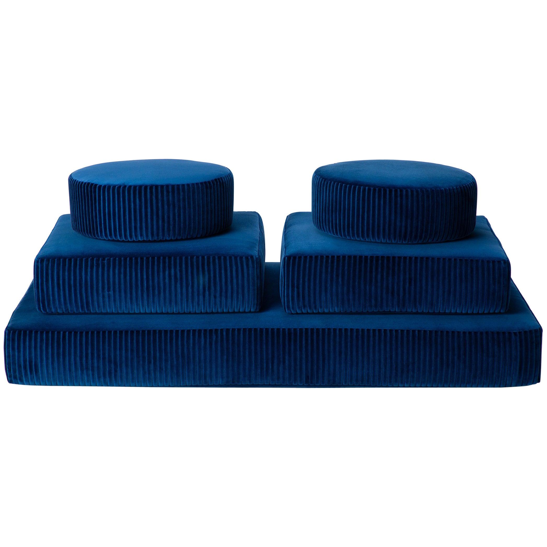 Stacks Bench by Another Human, Modern Upholstered Modular Bench, Corduroy Velvet