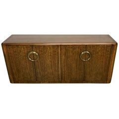 Midcentury Mahogany and Brass Credenza by Micheal Taylor for Baker