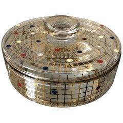 Mid-Century Modern Vanity Jewelry Glass Box, circa 1950