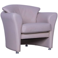 Leolux Leather Armchair Grey Beige One-Seat