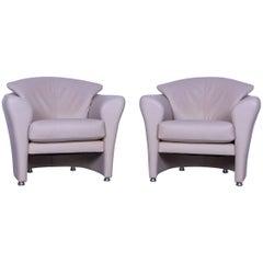 Leolux Leather Armchair Set Grey Beige One-Seat