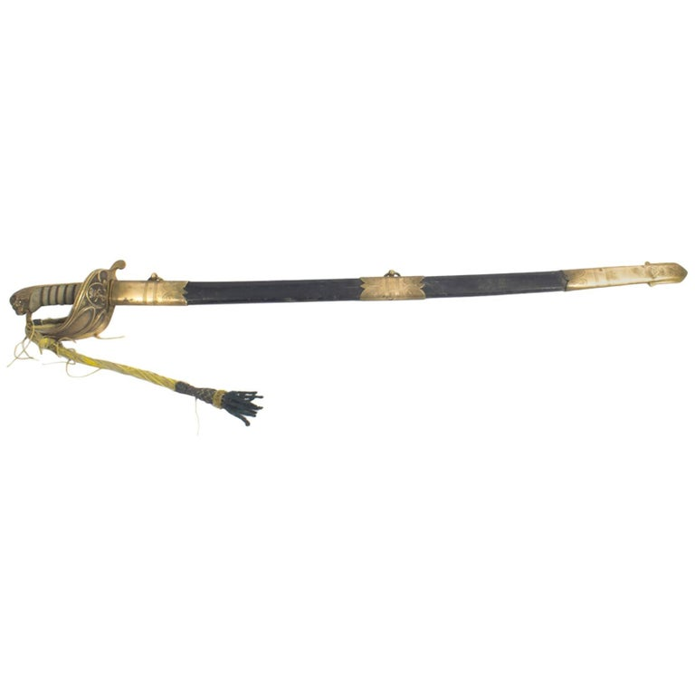 Antique Naval Officers Sword by Henry Wilkinson Shagreen, 19th Century
