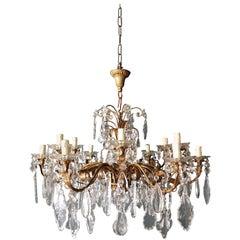 Crystal Chandelier Antique Ceiling Lamp Murano Florentiner Lustre Art Nouveau