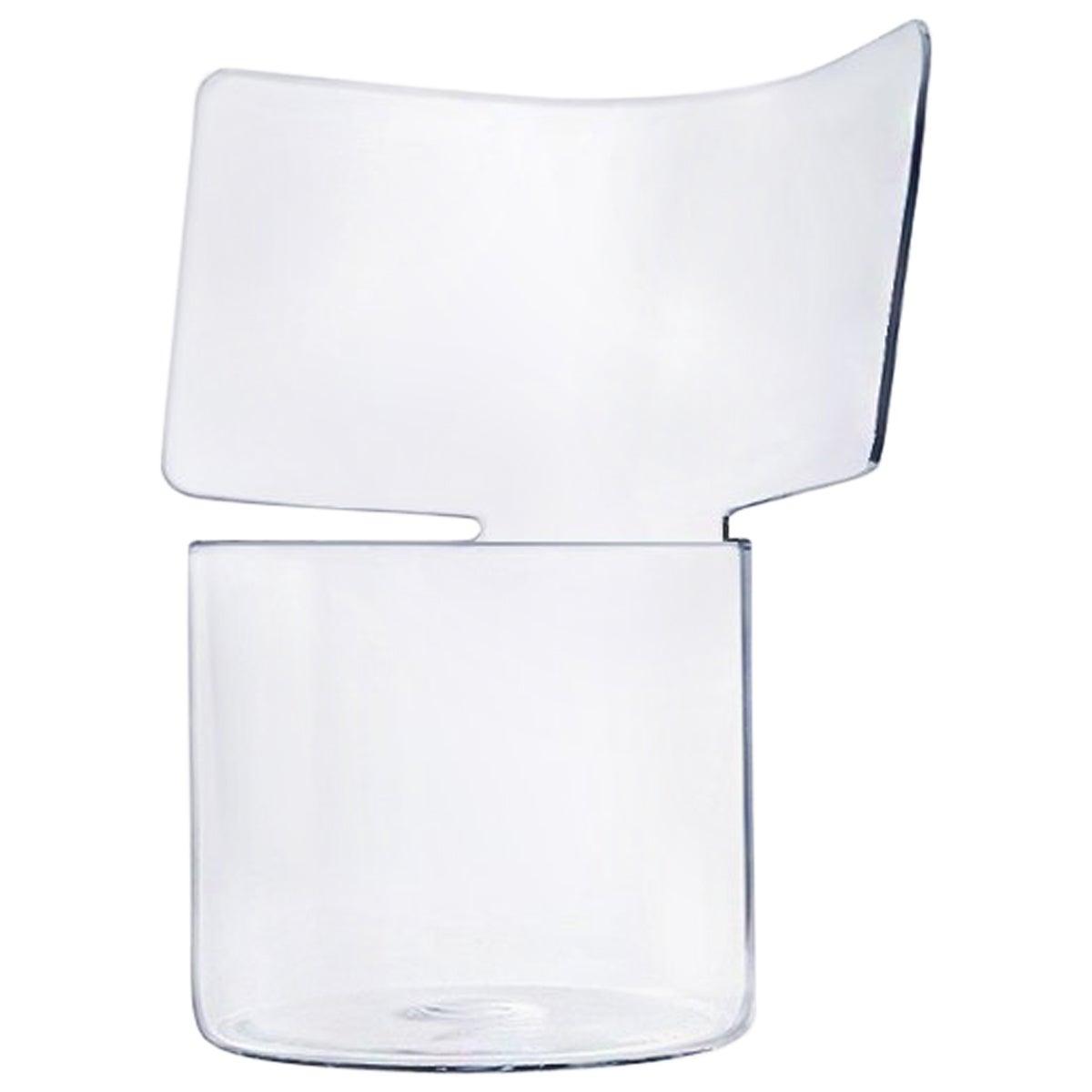 Riflessi Transparent Blown Glass Vase by Böijte–Bottari