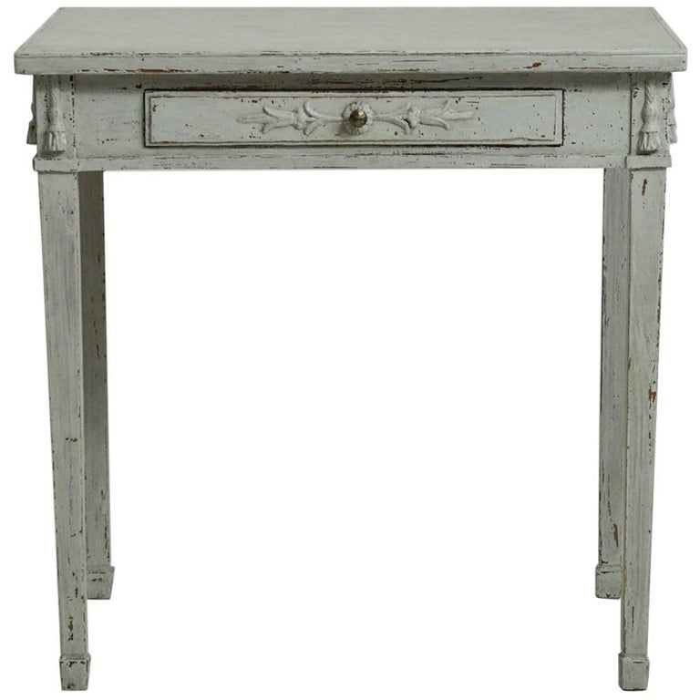 Gustavian Freestanding Console Table With One Drawer Circa 1830