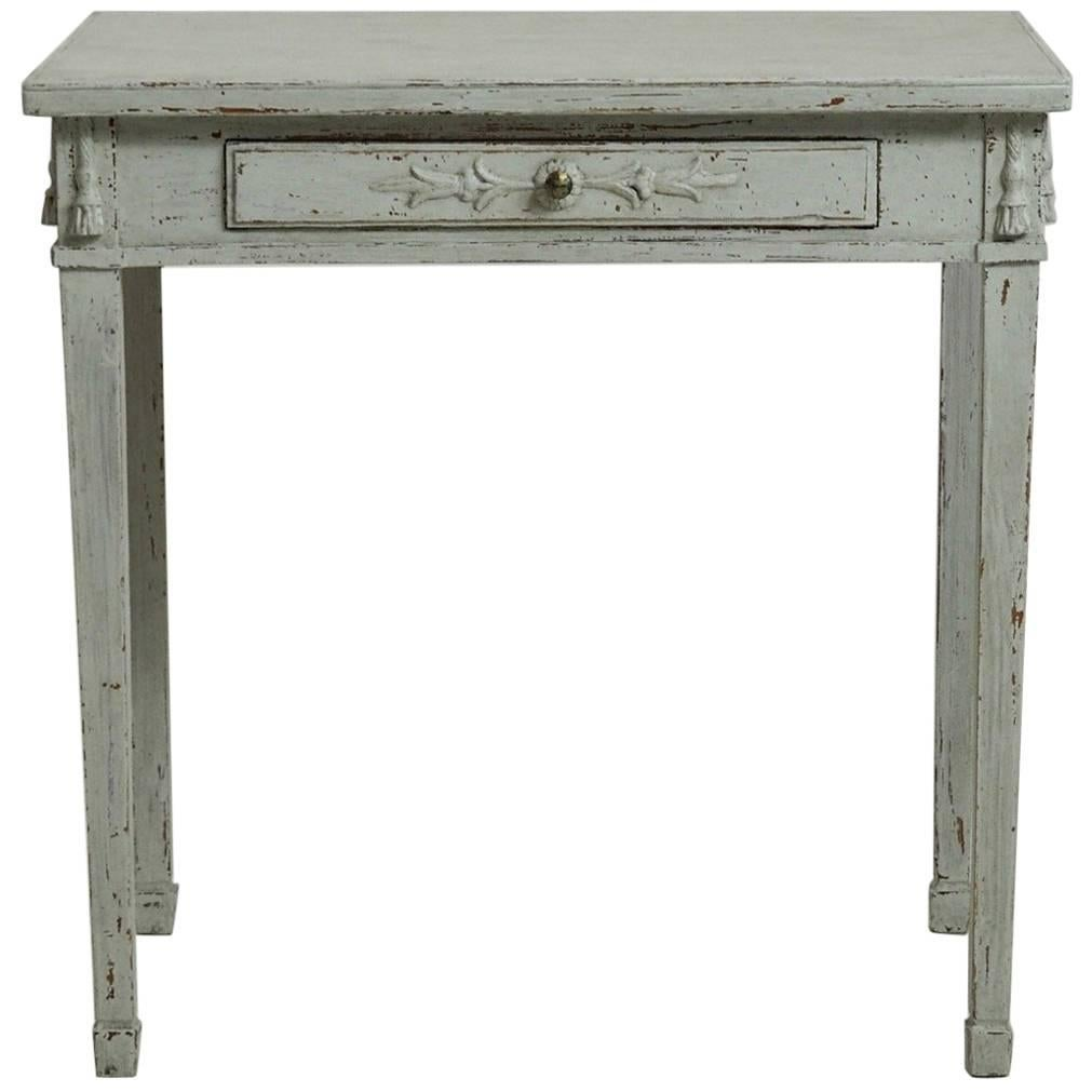 Superbe Gustavian Freestanding Console Table With One Drawer, Circa 1830