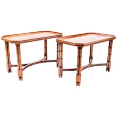 Pair of Mahogany Side Tables, in the Madeleine Castaing Style, circa 1960
