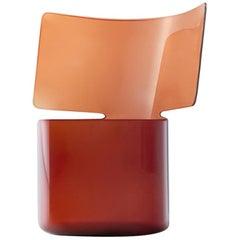 Riflessi Amber Blown Glass Vase by Böijte–Bottari