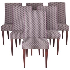 Czech Set of Chairs, Six Pieces Designed by Czech Architect Jindrich Halabala