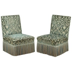 Pair of Upholstered French Side or Bedroom Chairs, circa 1890