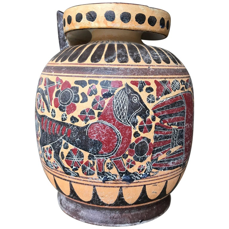 Classical Style Greek Vase With Neptune For Sale At 1stdibs