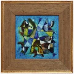 Karl Drerup Enamel Abstract Artwork