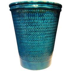 Nils Kähler Blue Glazed Stoneware Vase