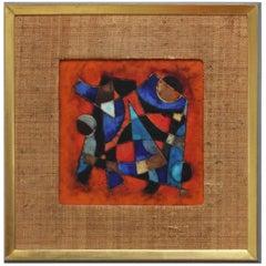 Karl Drerup Enamel on Copper Modern Artwork