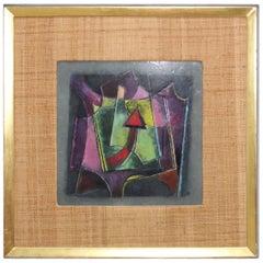 1950s Karl Drerup Modern Enamel on Copper Artwork