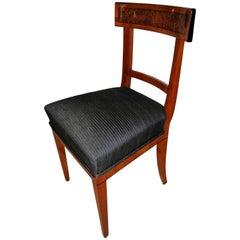 Biedermeier Chair Cherry/Birch Root/Ebony Veneer, South Germany, circa 1820