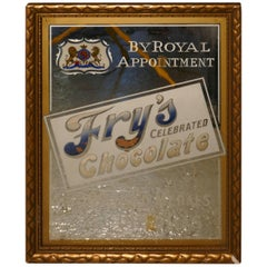 Fry's Celebrated Chocolate Advertising Mirror by Royal Appointment