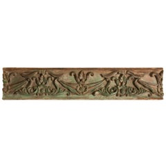 19th Century Carved Teak Wood Architectural Panel