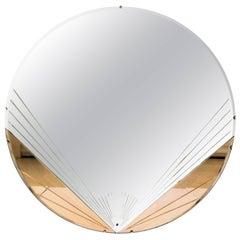 Art Deco Round Wall Mirror, circa 1930s
