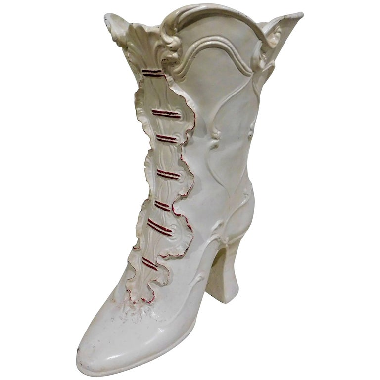 Italian Florists High Heel Boot Advertising Store Display Vase For