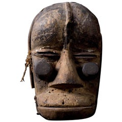 Guere African Wood Mask with Movable Jaw, Early 20th Century