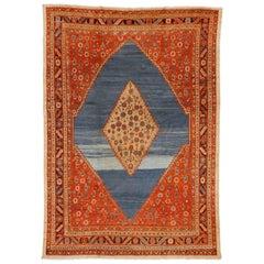 Outstanding Light Blue Antique Persian Bakshaish Carpet
