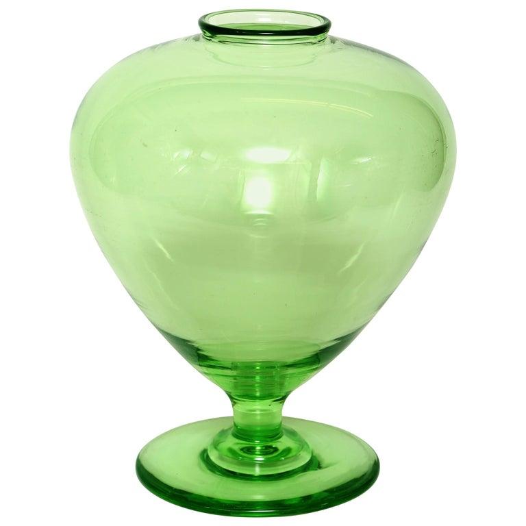 Union Glass Vase, Green