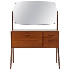 1960 Danish Teak Dressing Table with Mirror
