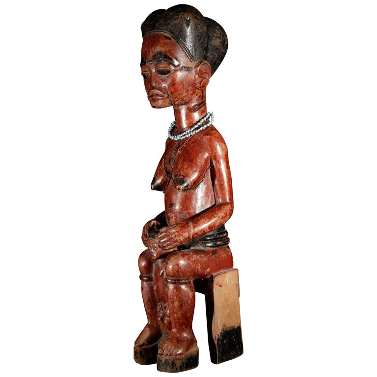Wooden Baoule Maternity Figure, Africa