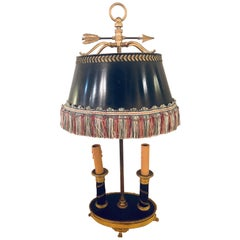 Early 19th Century Doré Bronze Bouilliotte Table Lamp