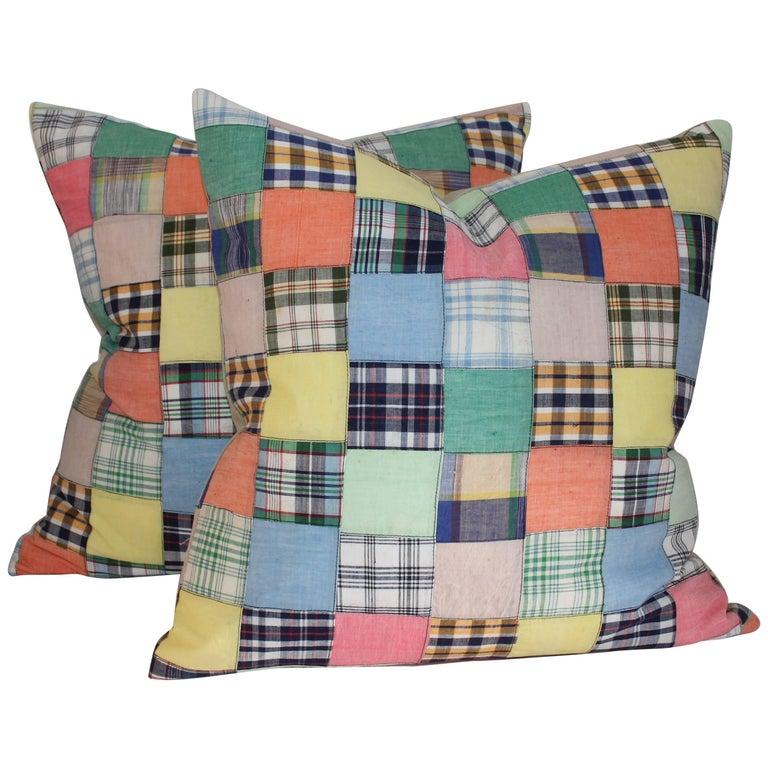 Patchwork Quilt Pillows, Pair