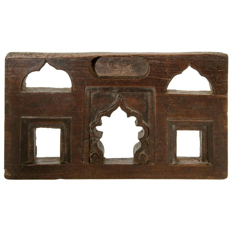 Vintage Miniature Architectural Votive & Picture Frame, Mid-20th Century, India