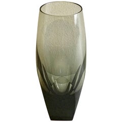 """12 Moser """"Topaz"""" Crystal Champagnes, in """"Ice Bottom"""" or """"Bar"""""""