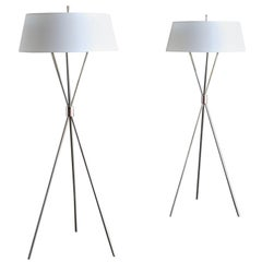 """Tripod"" Floor Lamps by T.H. Robsjohn-Gibbings"