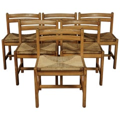 Set of Six Dining Chairs Designed by Børge Mogensen, Denmark, circa 1970