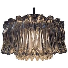 Vintage Modernist Starburst Glass Pendant Lamp from Glashütte Limburg, 1960s