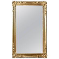 Napoleon III Style Big Gilt Mirror, France, 19th Century