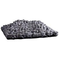 Hill Town, Black Marble Sculpture