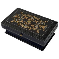 Rare Pill or Stamp Box in Boulle Marquetry, Napoleon III France, 1870
