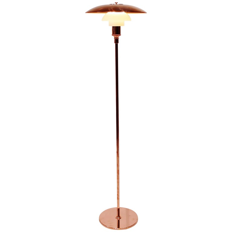 PH3½-2½, Limited Edition, Copper Floor Lamp by Poul Henningsen and Louis Poulsen
