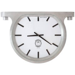 Wall Ceiling Clock Cast Aluminium Glass by Master Swedish Bell Maker