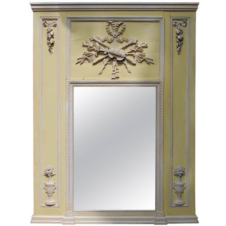 19th Century French Classical Trumeau Mirror